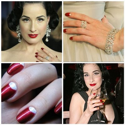 dita von teese partners with kiss nails
