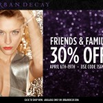 Urban Decay Friends & Family Sale – 30% Off!