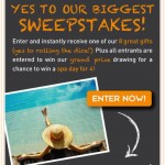 Say YES to Entering Yes To's Biggest Sweepstakes Yet!