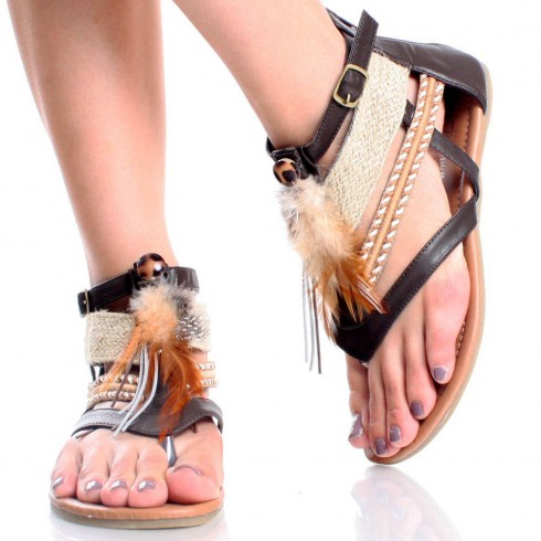 Model Women Shoes Indian Beaded Shoes