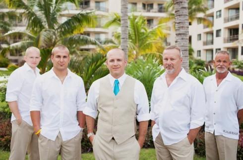 beach wedding groomsman