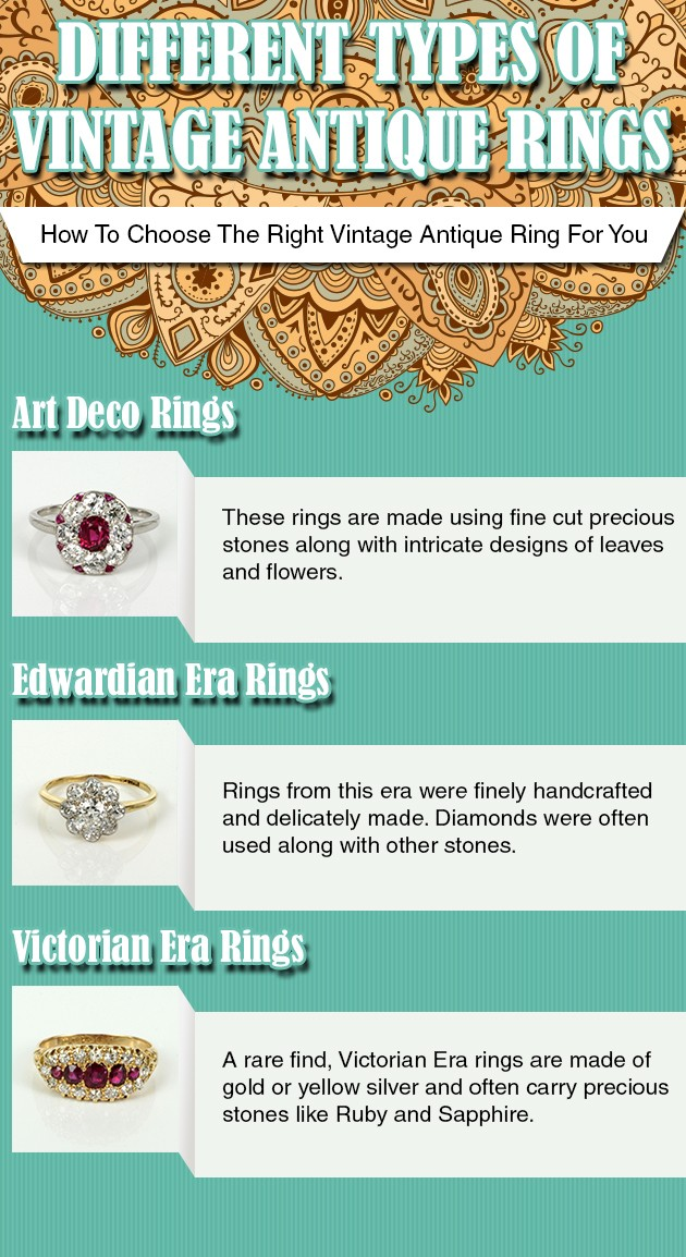 Different Types Of Vintage Antique Rings