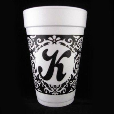 damask personalized cup