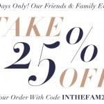Time For Shopbop's Friends & Family Event Again!