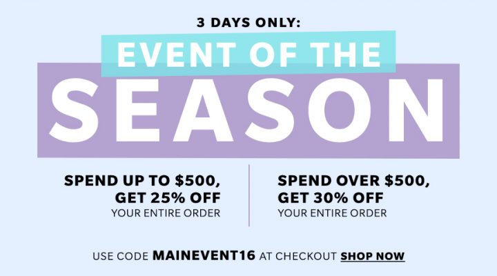 HUGE 3 Day SHOPBOP Sale Event of The Season!