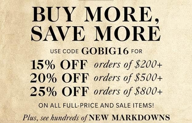 Time for Shopbop's Buy More, Save More Sale!