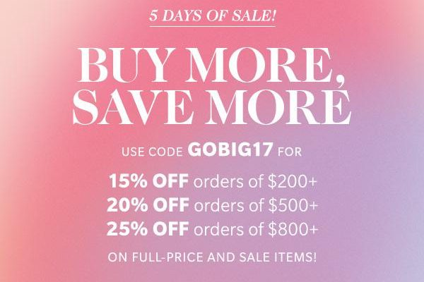 It's Time For The 5 Day SHOPBOP 'Buy More Save More Sale'!